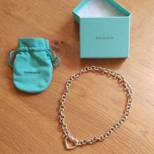 Tiffany & Co Sterling Silver Heart Clasp Necklace